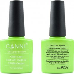 Canni Gel Color System  202 Light Green Mother Of Pearl 7.3ml