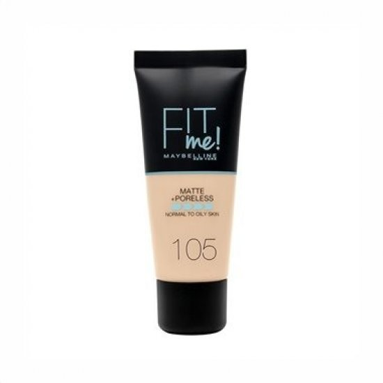 Maybelline New York Fit Me Matte & Poreless Foundation 105 Natural Ivory 30ml