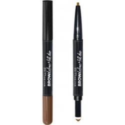 Maybelline Brow Satin Duo-Brow Μολύβι Φρυδιών  Medium Brown 8ml